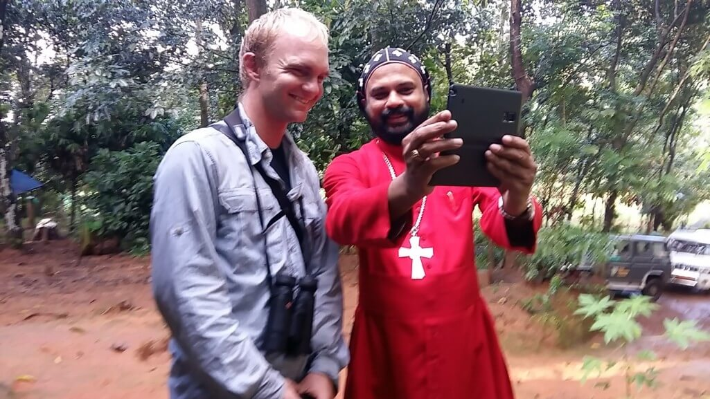 A bishop in India takes a post-world-record selfie with Noah